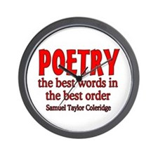 Poetry: Best Words Wall Clock