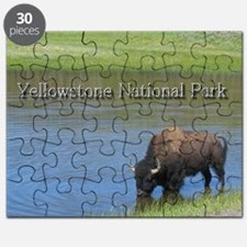 Wild American Buffalo in Yellowstone Nation Puzzle