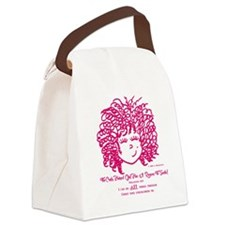 The Curly Haired Girl Can Do ALL  Canvas Lunch Bag