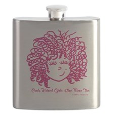 Curly haired girls Are More Fun Flask