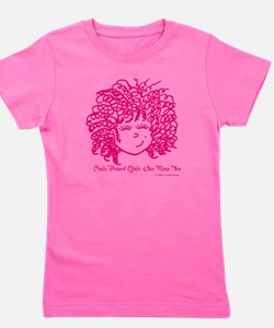 Curly haired girls Are More Fun Girl's Tee