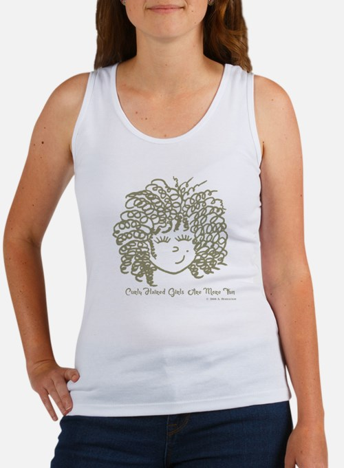 Curly haired girls Are More Fun Women's Tank Top