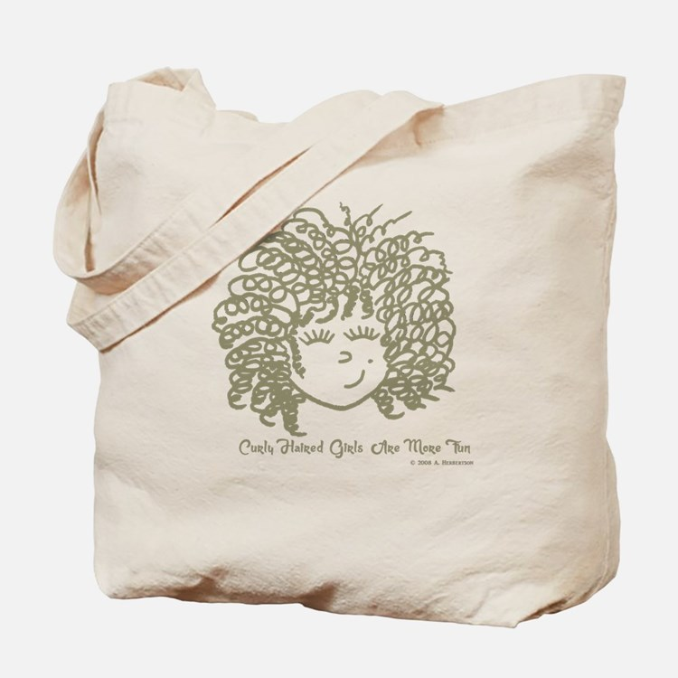 Curly haired girls Are More Fun Tote Bag