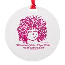 The Curly haired Girl knows the Lor Ornament