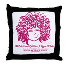The Curly haired Girl knows the Lord  Throw Pillow