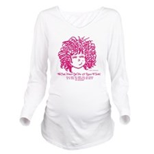 The Curly haired Gir Long Sleeve Maternity T-Shirt