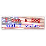 I Own A Dog Bumper Sticker