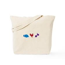 Fish Chicken Radish Tote Bag