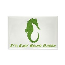 Seahorse It's Easy Rectangle Magnet