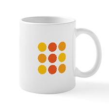 Red Yellow Orange Dots Mugs