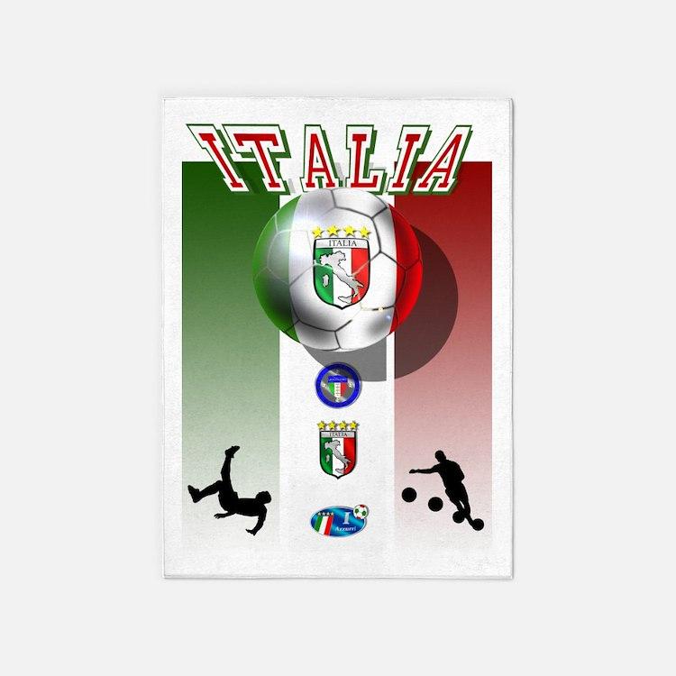 Italia Italian Football 5'x7'area Rug