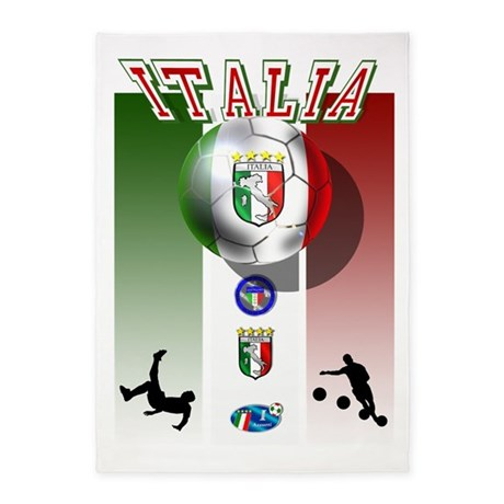 Italia Italian Football 5u0027x7u0027area Rug