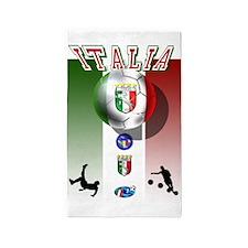 Italia Italian Football 3'x5' Area Rug