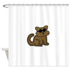 Cat With Sunglasses Shower Curtain