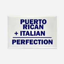 Puerto Rican + Italian Rectangle Magnet