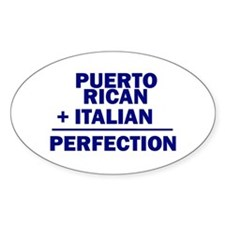 Puerto Rican + Italian Oval Decal
