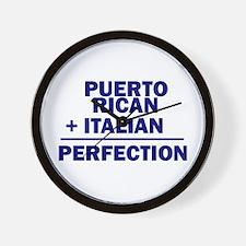 Puerto Rican + Italian Wall Clock