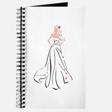 Wedding Dress Woman Bride Journal