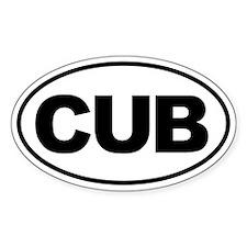 Cub Oval Decal