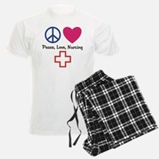 Peace, Love, Nursing Pajamas