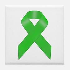 Awareness Ribbon Tile Coaster