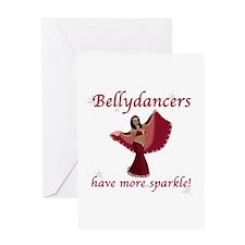 Red Bellydancer Greeting Card