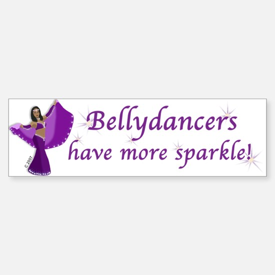 Purple Bellydancer Sparkle Bumper Bumper Bumper Sticker