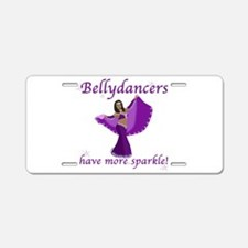 BD purple sparkle 8in.png Aluminum License Plate