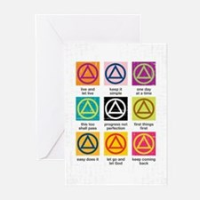 Unique Alcoholics anonymous Greeting Cards (Pk of 20)