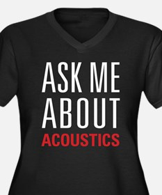 Acoustics - Women's Plus Size V-Neck Dark T-Shirt