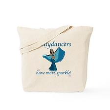 Turquoise Bellydancer Tote Bag