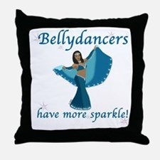 Turquoise Bellydancer Throw Pillow