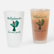 BD teal sparkle 8in.png Drinking Glass