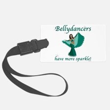 BD teal sparkle 8in.png Luggage Tag