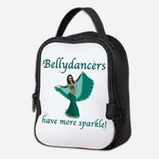 BD teal sparkle 8in.png Neoprene Lunch Bag