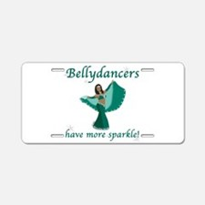 3x10 teal sparkle.png Aluminum License Plate