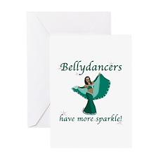 Teal Bellydancer Greeting Card