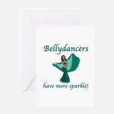 Teal Bellydancer Greeting Card