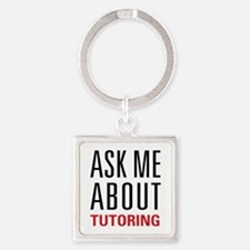 Tutoring - Ask Me - Square Keychain