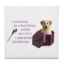 God Gave Me A Labrador Retriever 1 (Yellow) Tile C