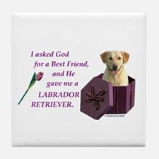 God Gave Me A Labrador Retriever 1 (Yellow) Tile C