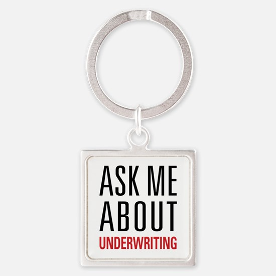 Underwriting Square Keychain