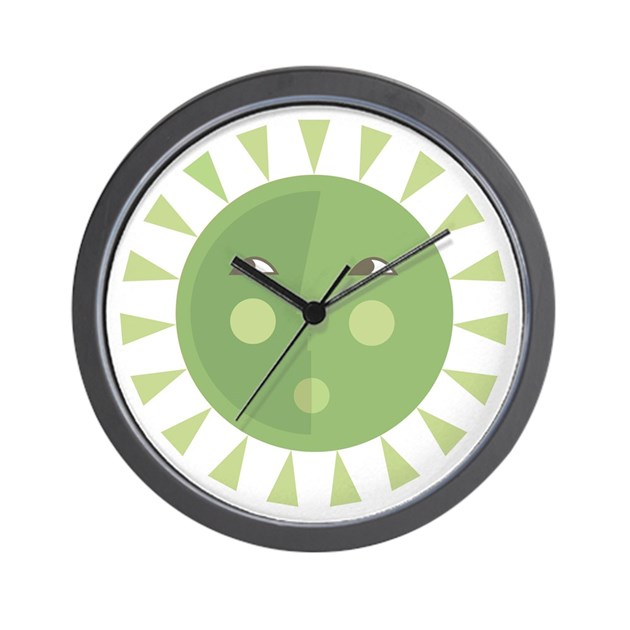 Sun Sage Green Wall Clock By Sophisticats
