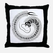 Centipede circle Throw Pillow