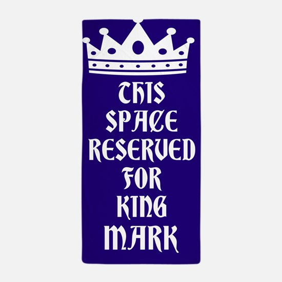 Navy Reserved King Personalized Beach Towel