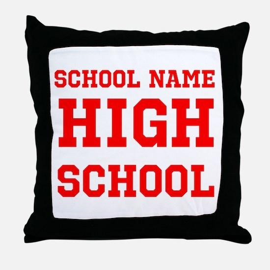 High School Throw Pillow
