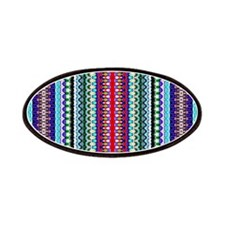 Purple Red Mint Tribal Pattern Patches