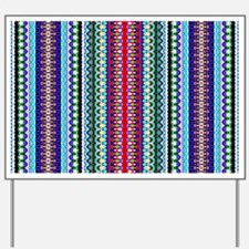 Purple Red Mint Tribal Pattern Yard Sign