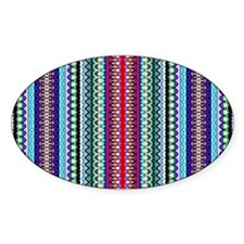 Purple Red Mint Tribal Pattern Decal