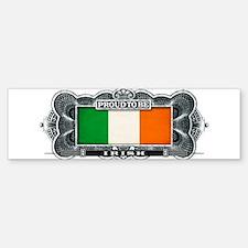 Proud To Be Irish Bumper Car Car Sticker